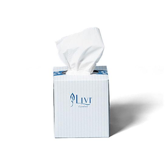 LIVI Essentials Facial Tissues Cube Hypoallergenic-2 ply 90's (Total 24 packs)