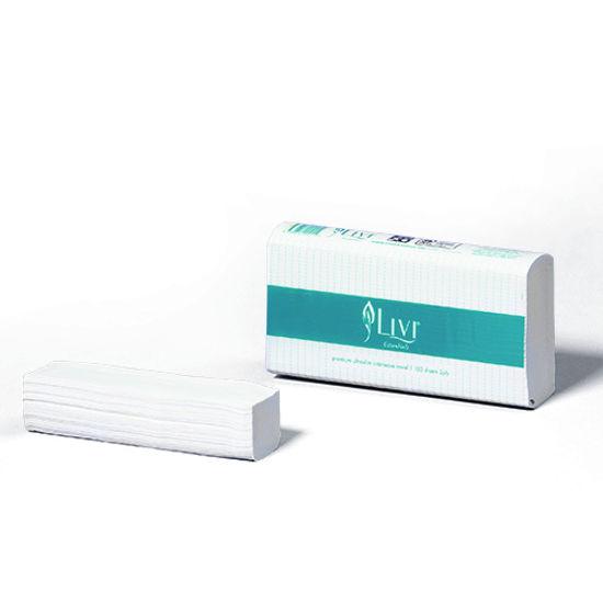 LIVI Essentials Multifold Towel 1ply 200s (Total 20 Packs)