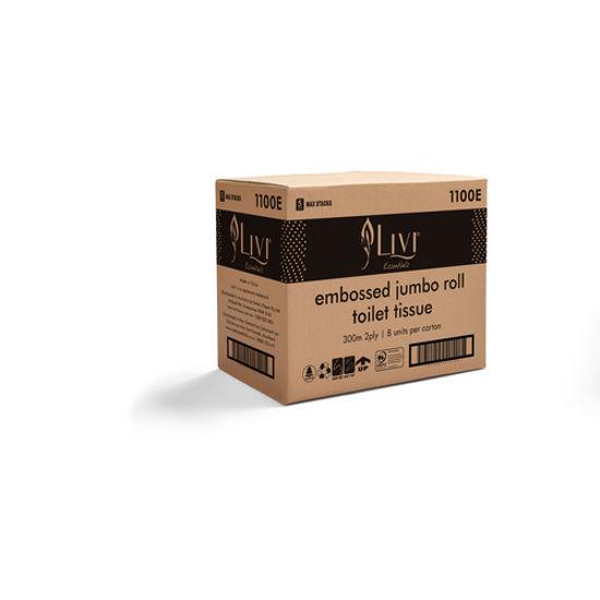 LIVI Essentials 2 ply 300m Jumbo Toilet Roll (8 Rolls/ctn)