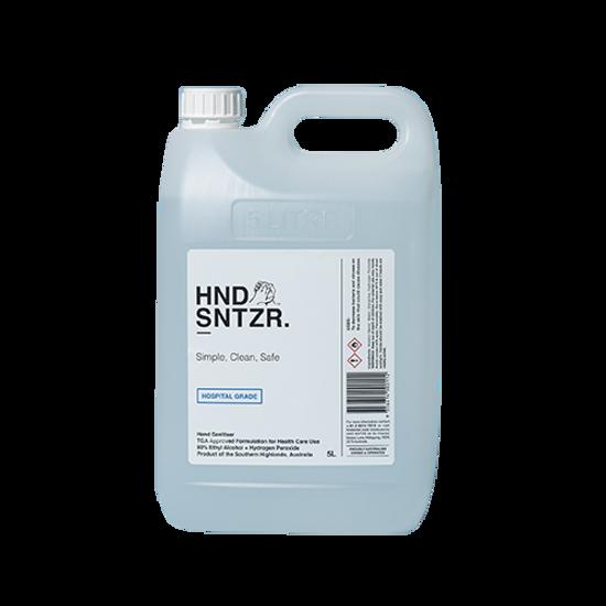 HND SNTZR Liquid Hand Sanitiser 5L w/ screw top cap (Total 2 Bottles)