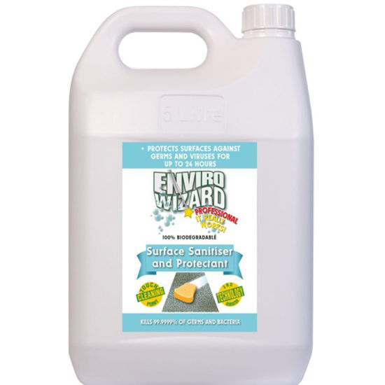 Enviro Wizard Surface Sanitiser- 5L- Non-Alcohol (Total 3 Bottles)