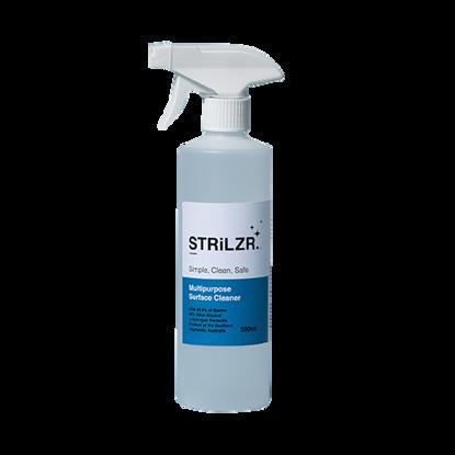 STRLiZR Surface Sanitiser 500ml spray 80% ethyl alcohol w/ hydrogen peroxide (Total 16)
