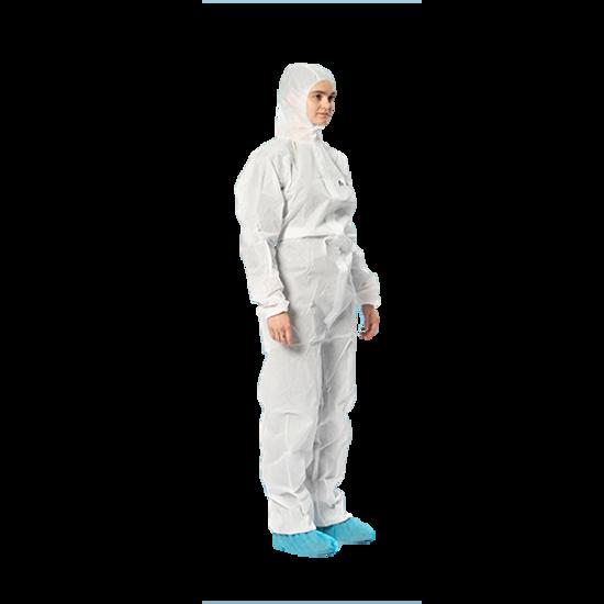 Coveralls. AAMI Level 1. Anti-Static 70gsm. White. 50/Case