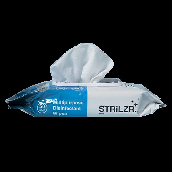 Hand Wipes. STRLiZR. 75% Alcohol. 50 wipes x 36 packs
