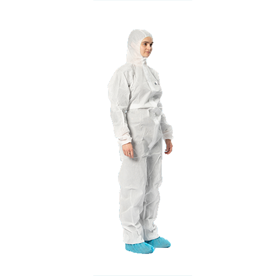 Coveralls. Medical AAMI Level 1. White. 50/Case